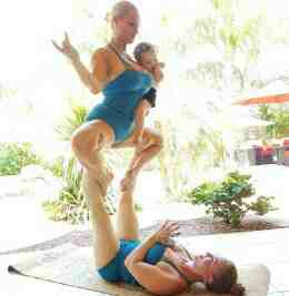 Coco Austin Shares Very Interesting Yoga Snap With Daughter, Sister