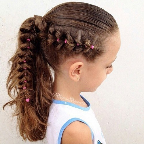 Cute Braided Hairstyles trendy for kids 2017 1