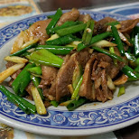 beef tongue stir fry is surprisingly delicious in Tainan in Tainan, T'ai-nan, Taiwan