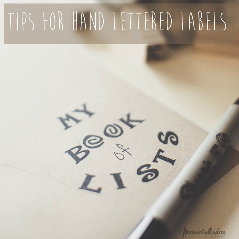 Hand Stamped Notebook Label Plus Tips for Making Your Own Labels