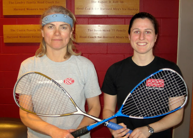 Women's 2.5+: Finalist - Debby Carr (Boston Squash Club-Waltham); Champion - Anna Robinson (Boston University)
