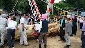 20140823三友会御柱の木造り - 4