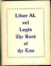 Cover of Aleister Crowley's Book Liber AL vel Legis Scans