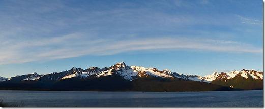 Our view of Kania Mountains and Resurrection Bay, Seward Alaska