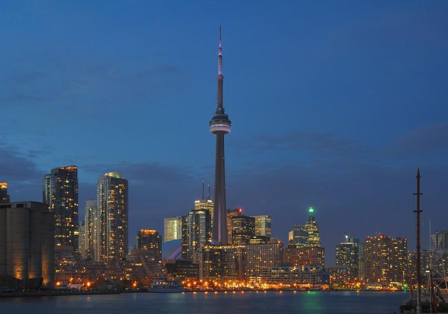 Beautiful Toronto at night by Johannes Schaffert - City,  Street & Park  Skylines ( pwcskylines,  )