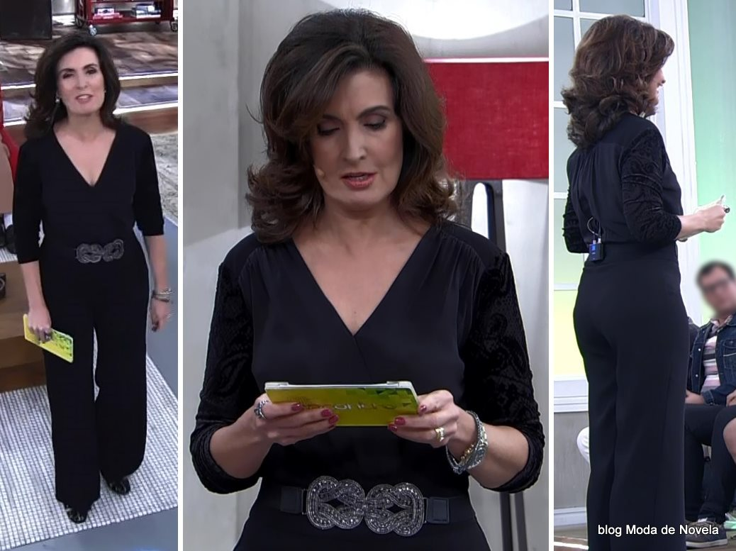 moda do programa Encontro - look da Fátima Bernardes dia 25 de junho