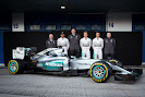 Mercedes W06 with Lewis Hamilton, Nico Rosberg, Pascal Wehrlein, Paddy Lowe, Toto Wolff, Andy Cowell