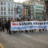 SOS Sanidá asturiana_manifestación