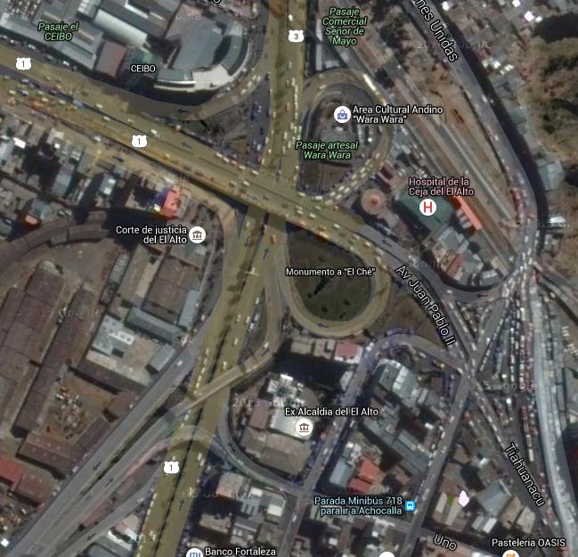 La Ceja: el centro de la ciudad de El Alto