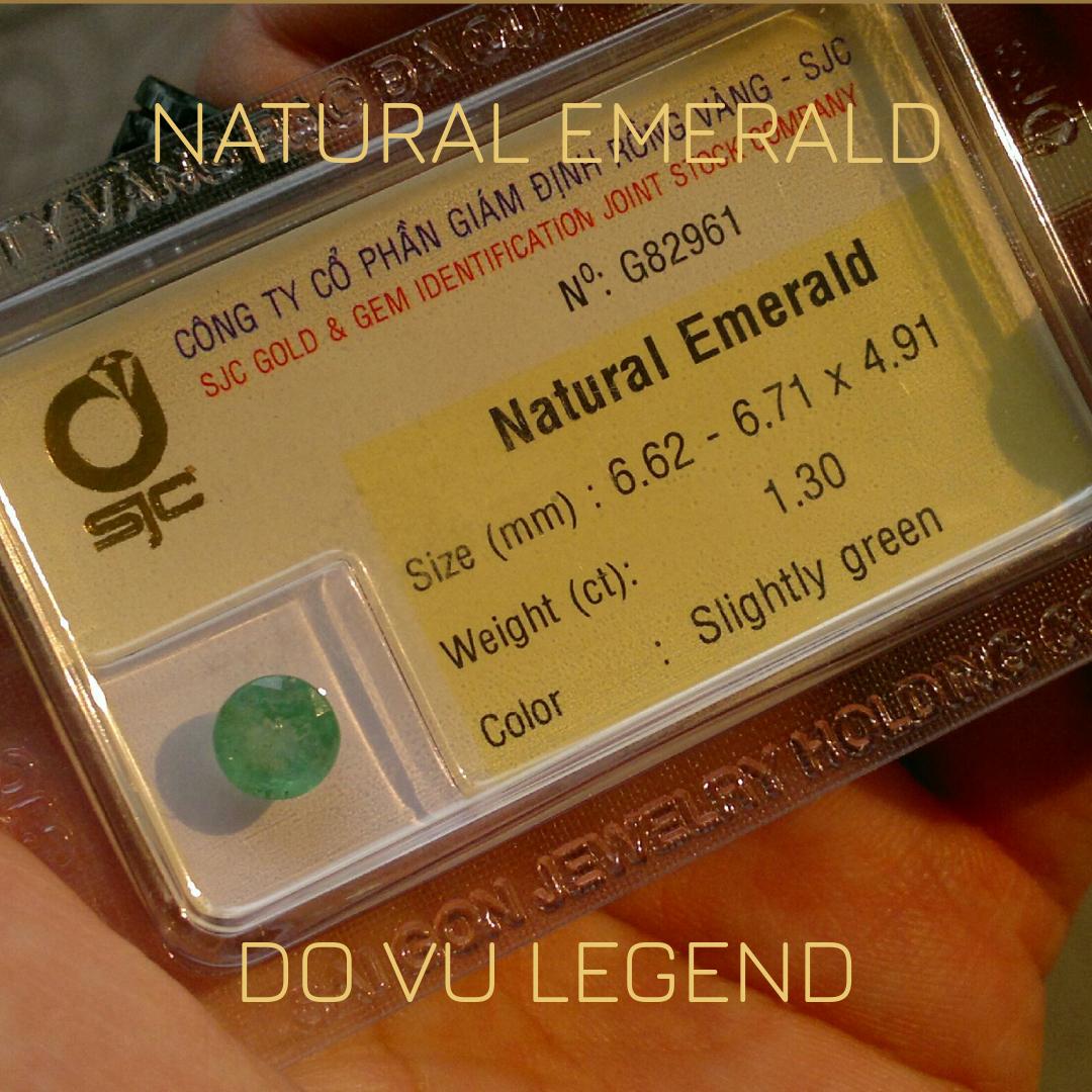 Đá quý Ngọc Lục Bảo, Natural Emerald 1.3cts đã kiểm định SJC