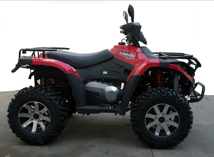 500 Linhai Yamaha ATV Farm 4x4 Quad Bike Red Right