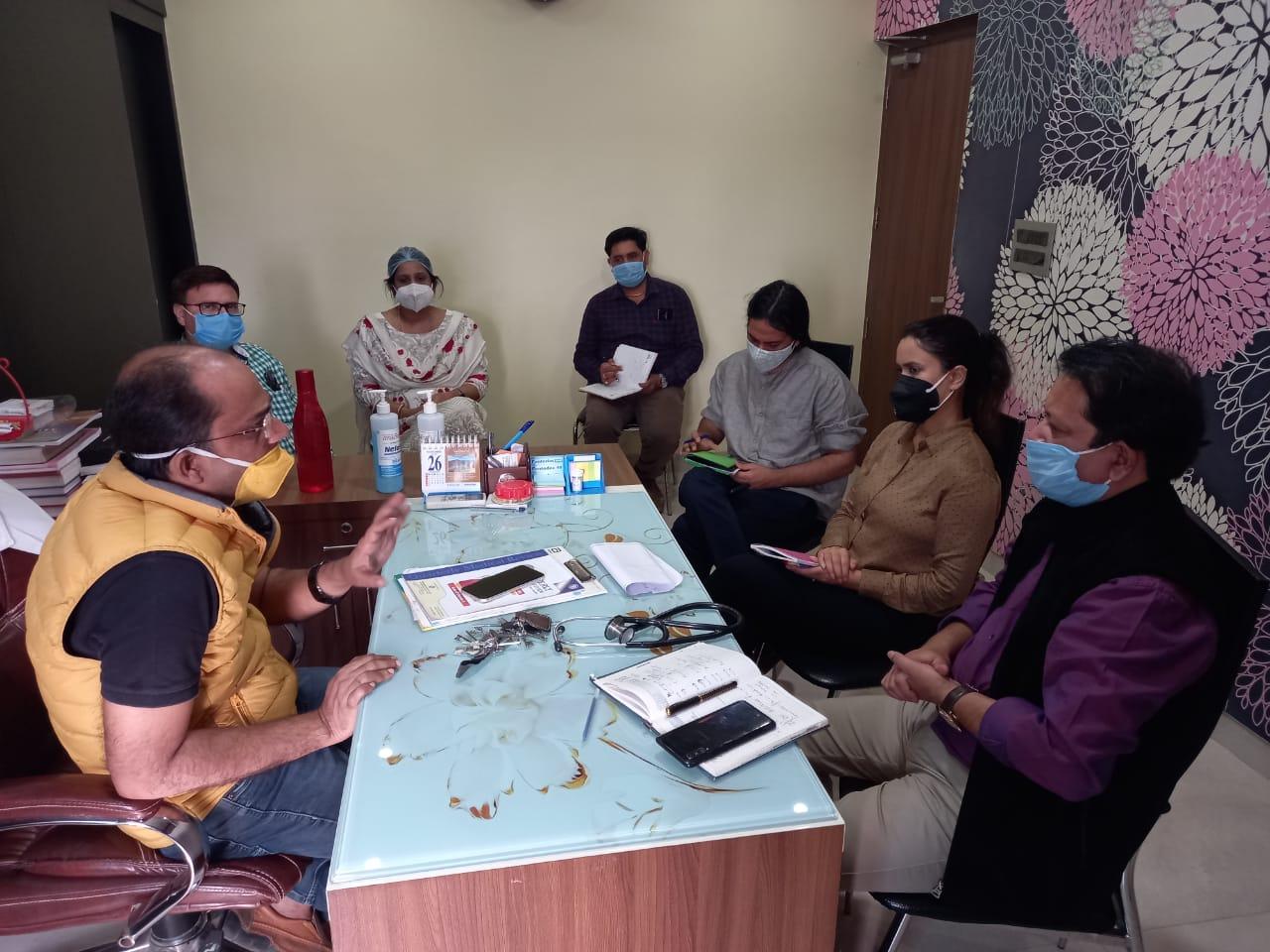 पूर्णियां:केंद्रीय टीम ने लिया आयुष्मान भारत कार्यक्रम का जायजा