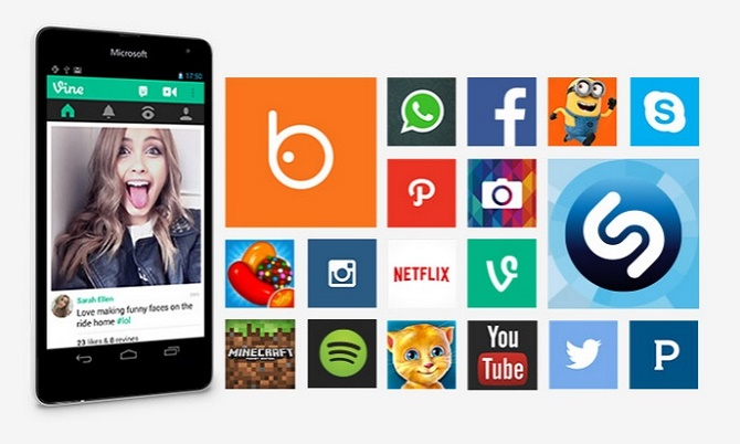Trong một sự cố hy hữu, bộ phận phát triển web bán hàng của Microsoft đã dán ảnh chụp màn hình của ứng dụng Vine từ… Android lên Lumia 535.