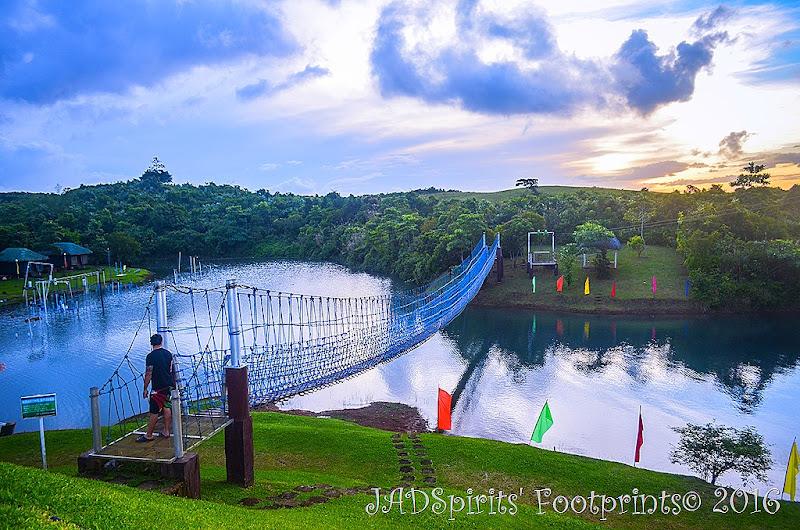 The Hanging Bridge at Caliraya Mountain Lake Resort