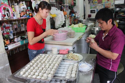 西螺-高文記水餃 有嚼勁的高麗菜水餃 只要3元