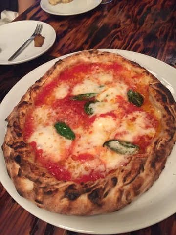 The Margherita pizza from Bacar in Naha, Okinawa. Simply delicious