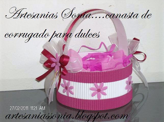 Artesanias Sonia: Canastas para dulces....