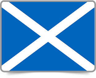 Scots framed flag icons with box shadow