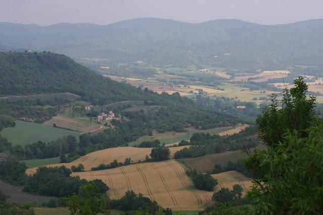 Le vallon des Fouix vu depuis les Hautes-Courennes (550 m), Saint-Martin-de-Castillon (Vaucluse), 13 juin 2015. Photo : J.-M. Gayman