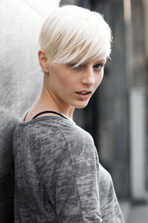 Outstanding Short White Blonde Hair Hairstyle Inspiration Daily Dogsangcom