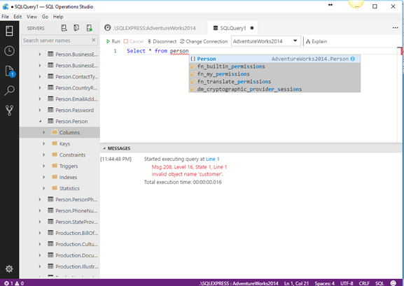 T-SQL Query Intellisense