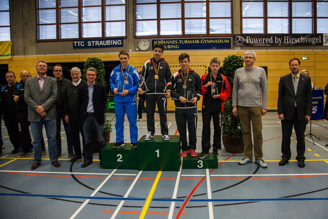 Nationale Deutsche Meisterschaften der Schüler 2016 in Straubing: Siegerehrung Schüler Einzel