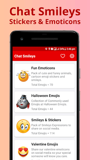 chat smiley free emoticons screenshot 2