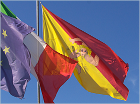 Die Flagge Siziliens