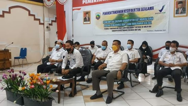 Pemkab Kotabaru Jalin Kerjasama Dengan BPOM Propinsi Kalsel
