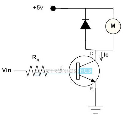Transistor untuk mengendalikan motor