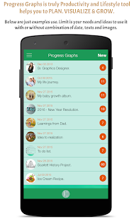 Progress Graphs-Life Organizer- screenshot thumbnail