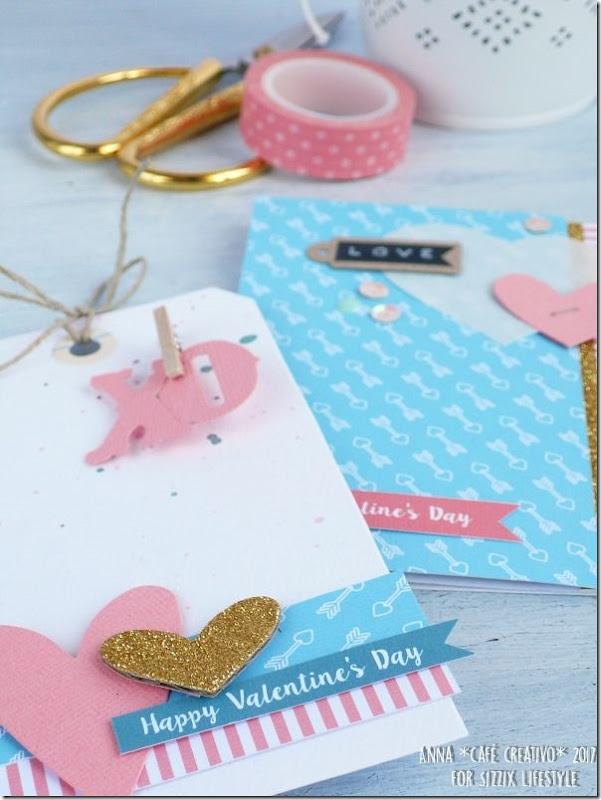 San Valentino - Card e tag coordinata con la Big Shot e Fustelle Sizzix