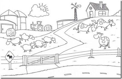 granja y animales colorear (18)