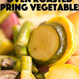 Oven Roasted Spring Vegetables.
