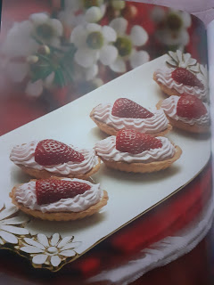 Strawberry mousse and Lemon meringue flan Recipes with ingredients and step by step methods for the both .