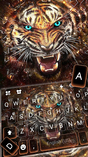 Roaring Fierce Tiger Keyboard Theme screenshots 2
