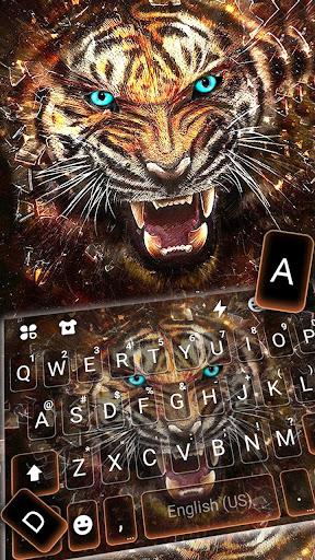 Roaring Fierce Tiger Keyboard Theme 1.0 screenshots 2
