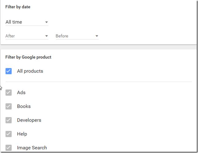 google-arama-geçmişi-temizleme