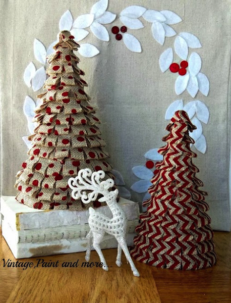 Burlap christmas decor for under 25 the kim six fix for Burlap ribbon on tree