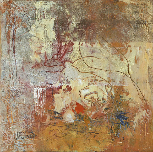 "Ancient Practises. 8""x 8"" Oil on panel"