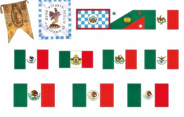 Imágenes de todas las banderas de México para imprimir