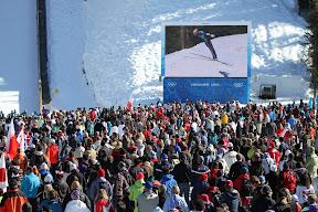 The crowds at ski jumping