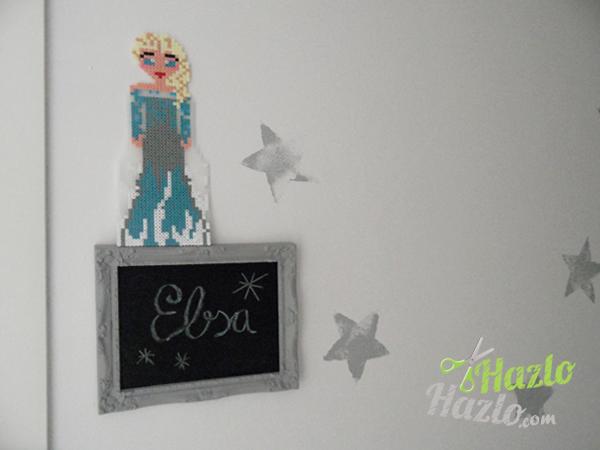 Elsa hecha con Hama Beads
