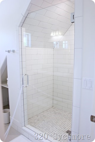 tile pattern in shower