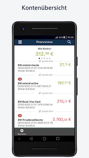 BW-Mobilbanking mit Smartphone und Tablet  screenshots 1