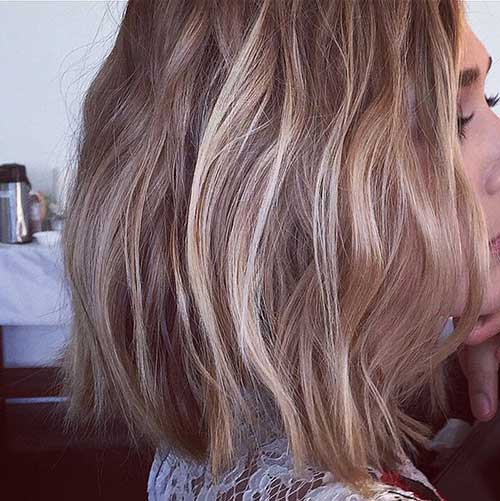 Remarkable Shoulder Length Wavy Brown Bob Hairstyle Fashion Qe Hairstyle Inspiration Daily Dogsangcom