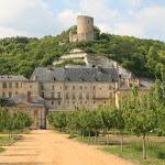 Château : vue d'ensemble depuis le potager-verger