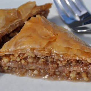 Baklava - Classic Phyllo Pastry with Walnuts and Almonds.