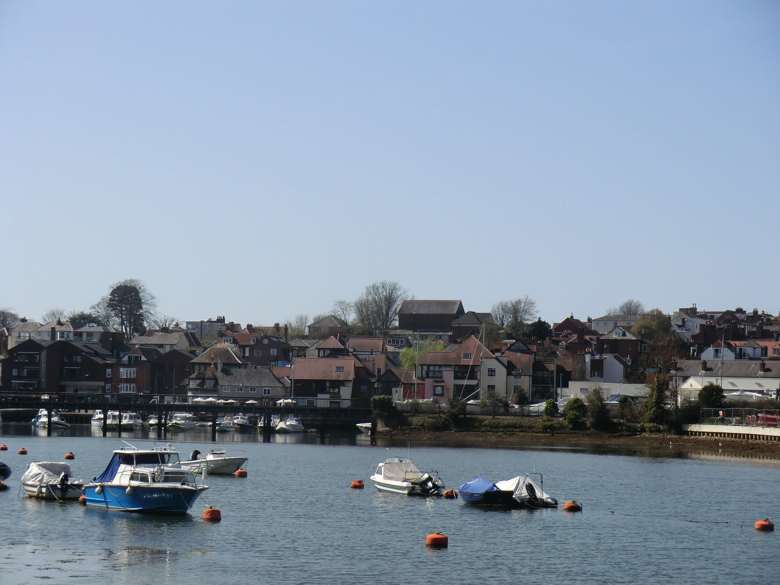CIMG7620 Lymington from across the river