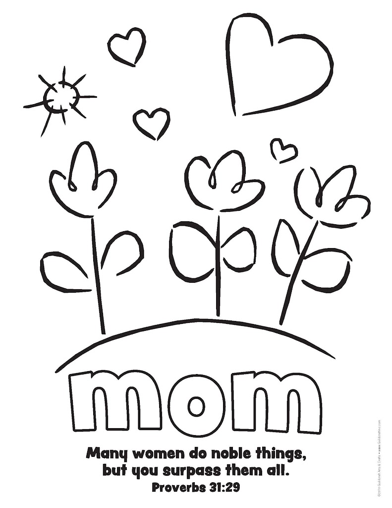 HD Mom Hearts Coloring Pages Photos